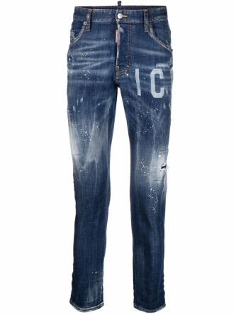 Jeans con stampa